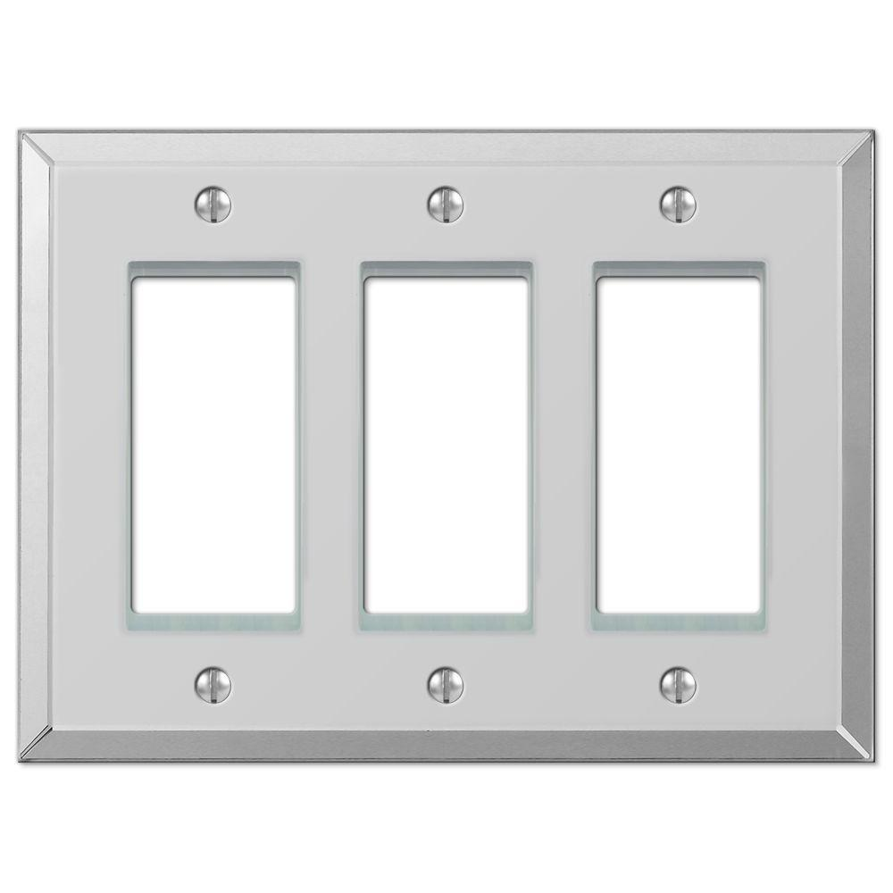 Rocker Switch Plate Delectable Hampton Bay Acrylic Mirror 3Gang Decora Wall Plate66Rrr  The Inspiration Design