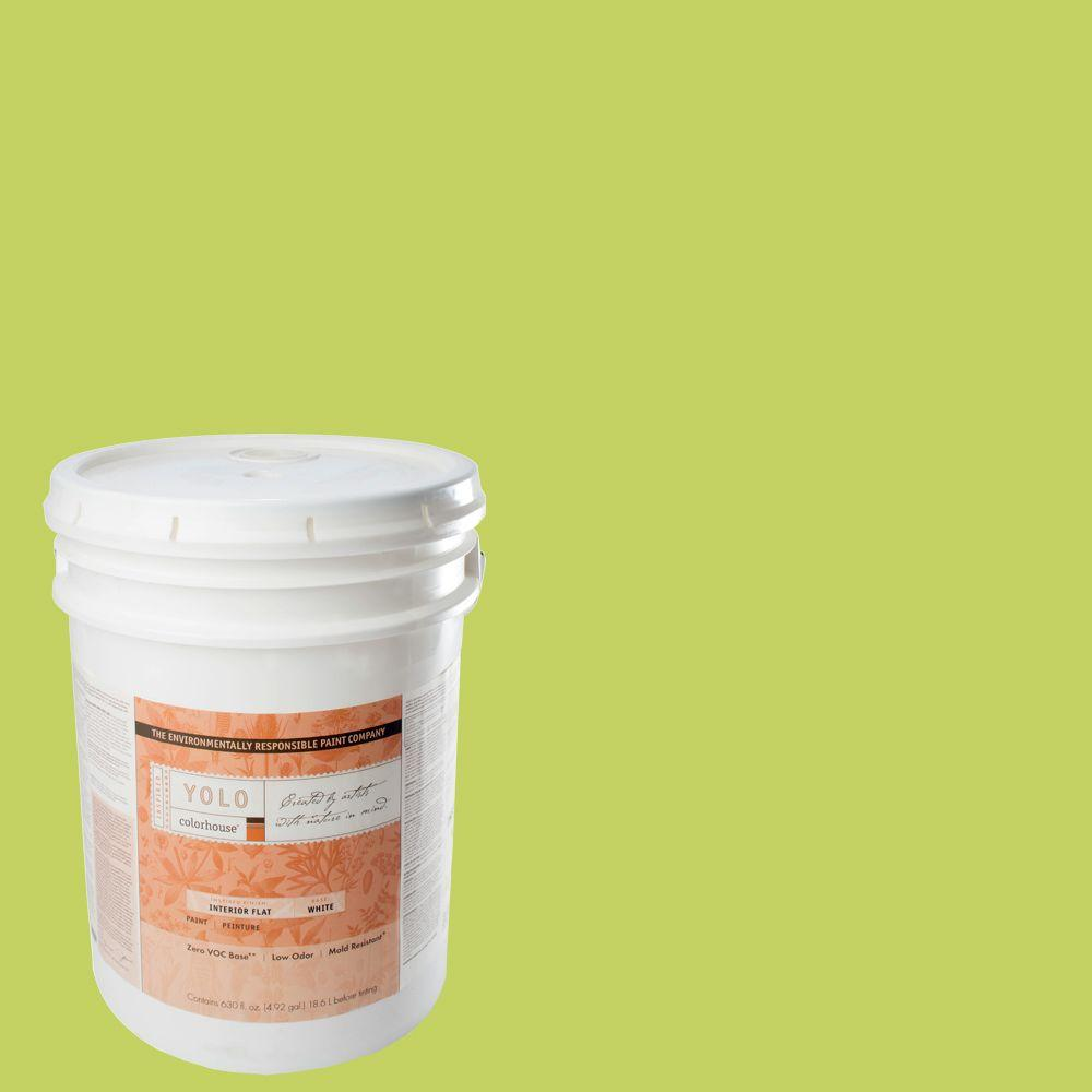 YOLO Colorhouse 5-gal. Petal .02 Flat Interior Paint-DISCONTINUED