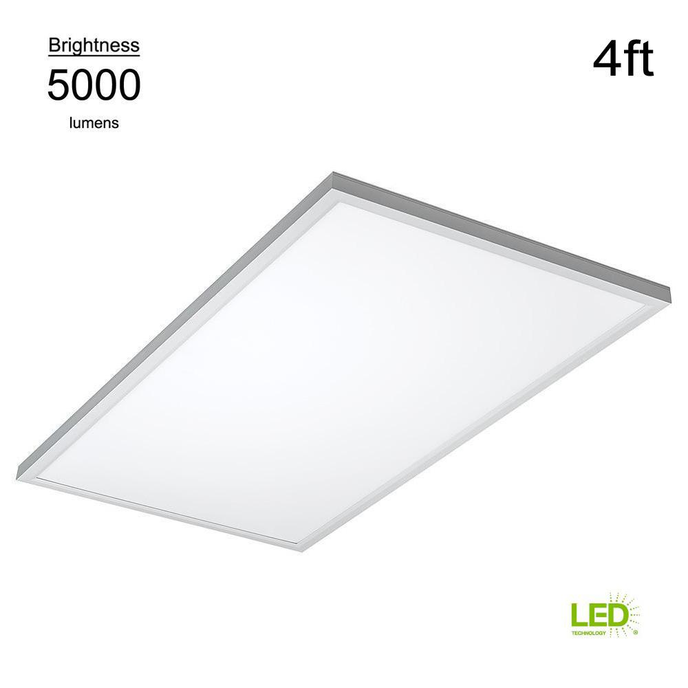lowest price 02155 151ad ETi Commercial Drop Ceiling 2 ft. X 4 ft. White 5000K Dimmable Integrated  LED Flat Panel Troffer (2 Pack)