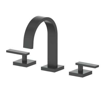 Alpine 8 in. Widespread 2-Handles Bathroom Faucet in Electric Matte Black