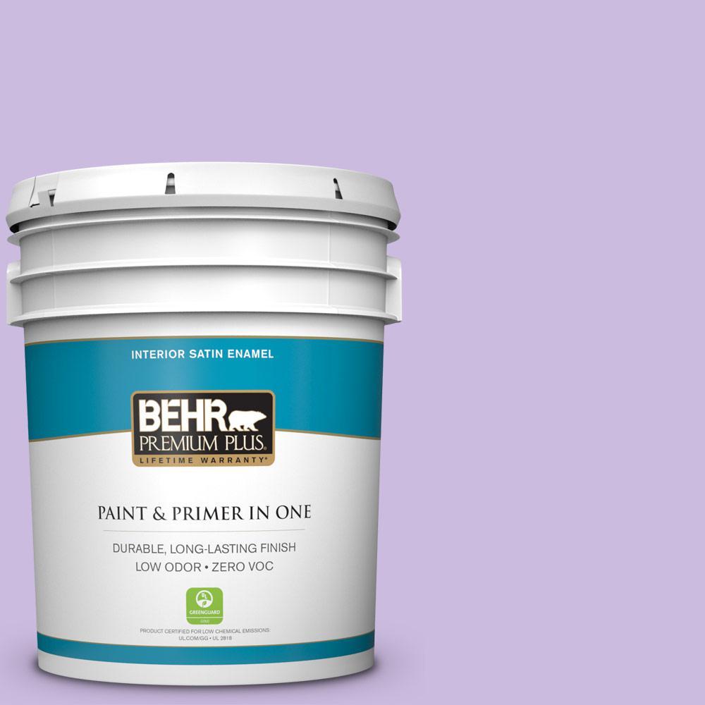 BEHR Premium Plus 5 gal. #P570-2 Confetti Satin Enamel Zero VOC Interior Paint and Primer in One