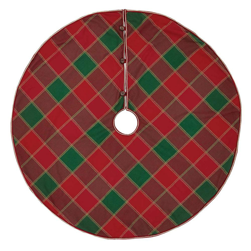 Vhc Brands 48 In Tristan Cherry Red Traditional Christmas Decor Tree Skirt