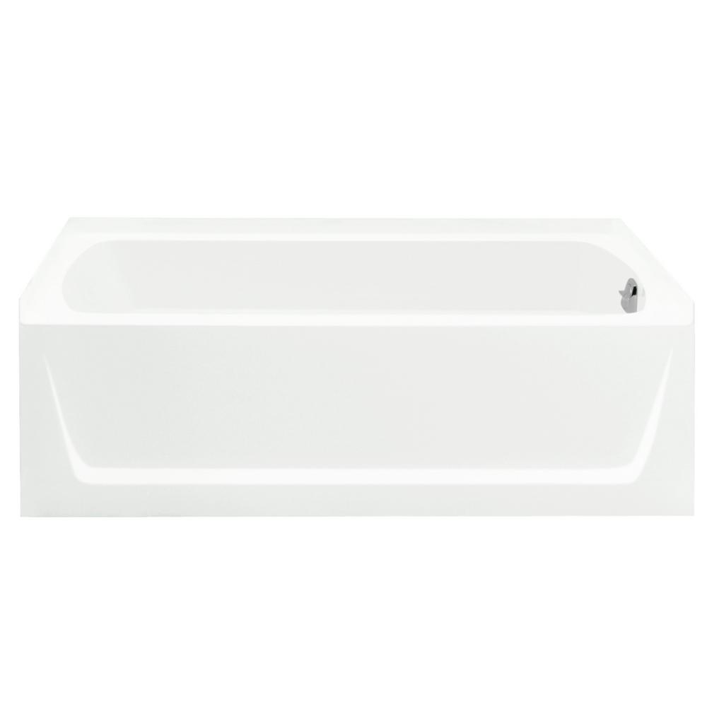 STERLING STORE+ 5 ft. Right-Hand Drain Rectangular Alcove Bathtub ...