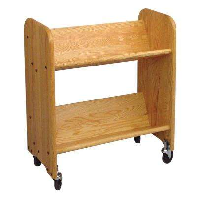 Bookmaster Rol-Rack 2-Shelf Mobile Bookcase