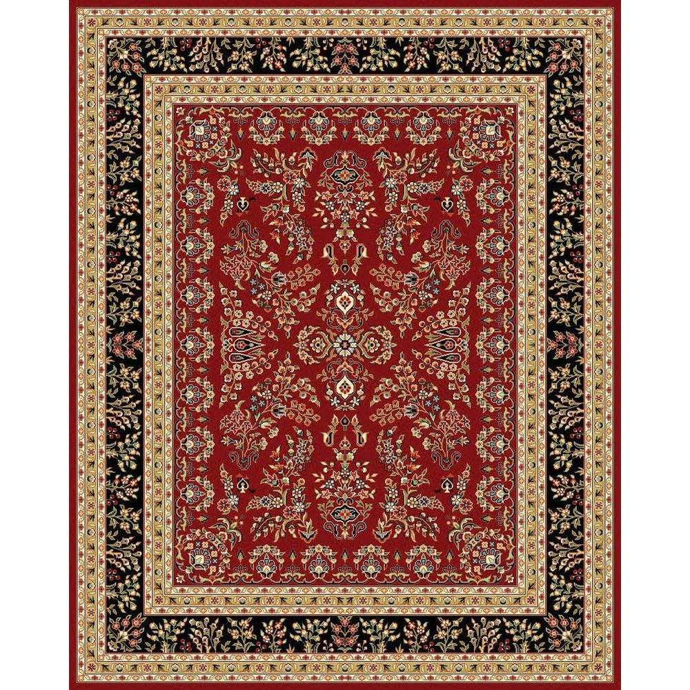 Safavieh Lyndhurst Redblack 8 Ft X 11 Ft Area Rug Lnh331b 8 The