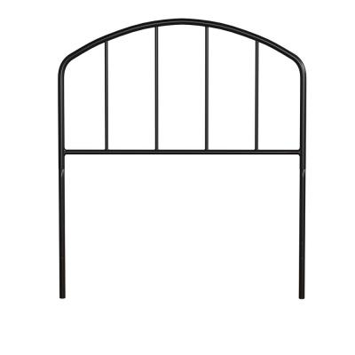 Tolland Black Twin Arched Spindle Headboard