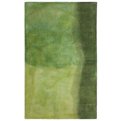 Portico Collage Green 9 ft. x 12 ft. Area Rug