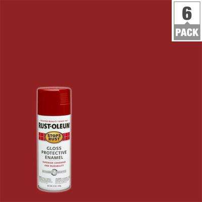 12 oz. Protective Enamel Gloss Regal Red Spray Paint (6-Pack)