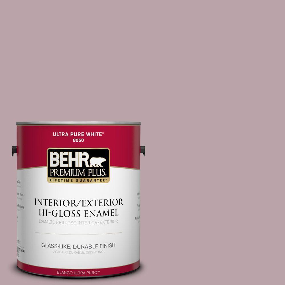 BEHR Premium Plus 1-gal. #100F-4 Dark Lilac Hi-Gloss Enamel Interior/Exterior Paint