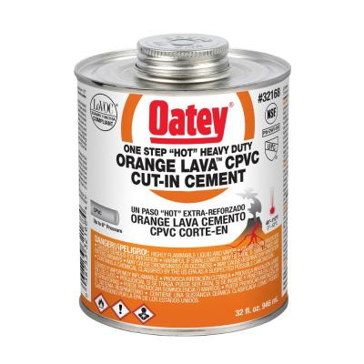 Orange Lava 32 oz. Heavy-Duty Orange CPVC Pipe Cement
