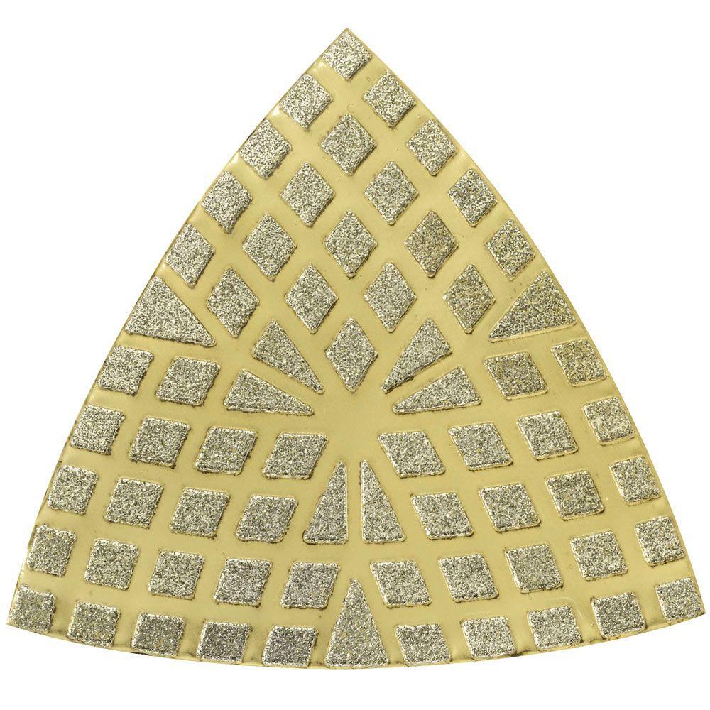 Multi-Max 60-Grit Oscillating Tool Diamond Sand Paper for Masonry, Thin-Set,