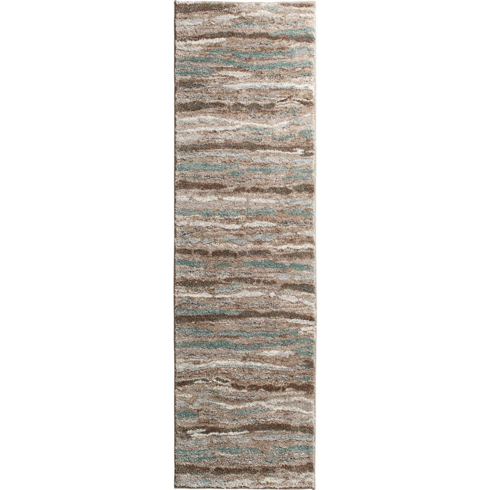 Home Decorators Collection Shoreline Multi 2 ft. x 7 ft. Striped Runner Rug
