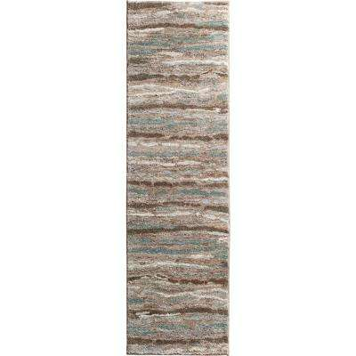 Sline Multi 2 Ft X 7 Striped Runner Rug
