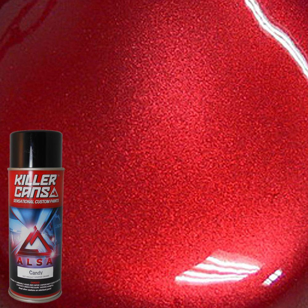 Alsa Refinish 12 Oz Candy Apple Red Killer Cans Spray Paint Kc Ar The Home Depot