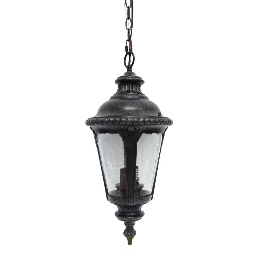 Dallin 2-Light Brown Stone Outdoor Hanging Lantern