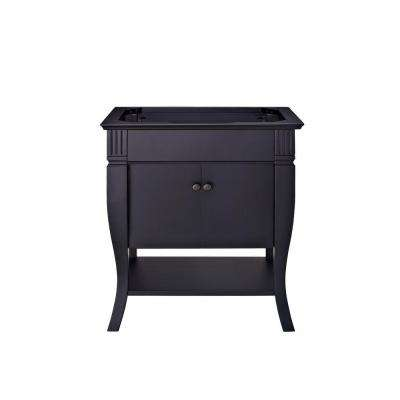 Colorado 30 in. Vanity Cabinet Only in Black