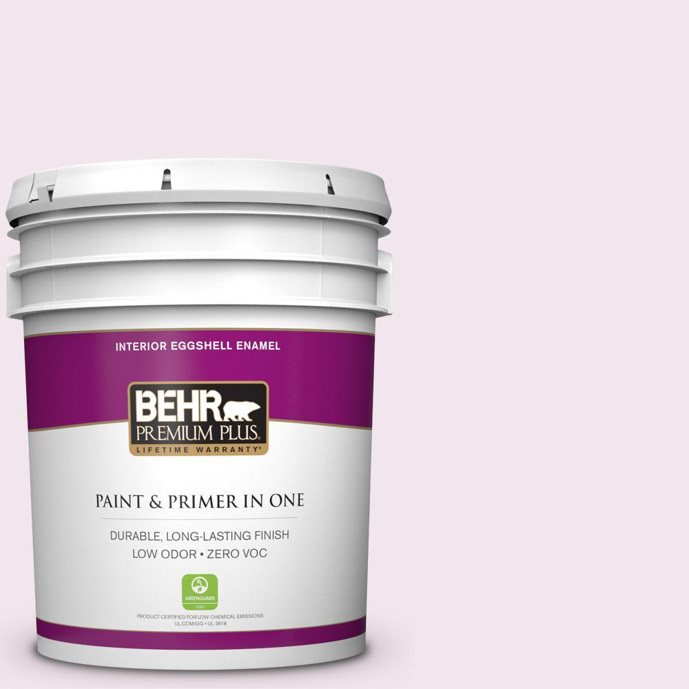 BEHR Premium Plus 5-gal. #650A-1 Rose Fantasy Zero VOC Eggshell Enamel Interior Paint