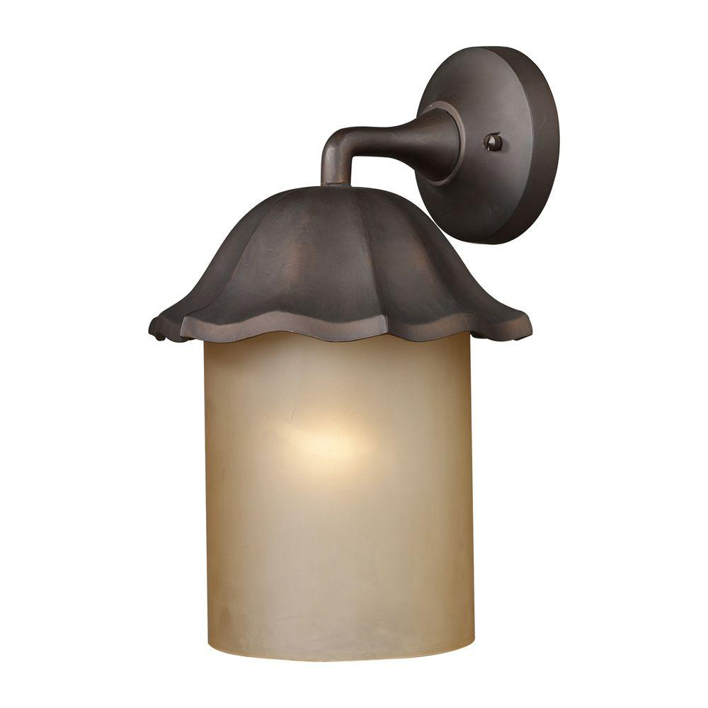Titan Lighting 1-Light Wall Mount Clay Bronze Outdoor Sconce-DISCONTINUED