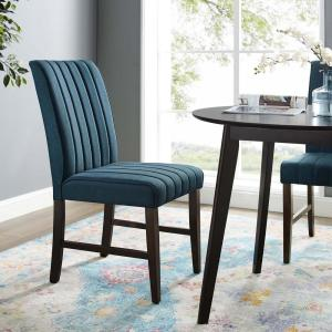 Excellent Modway Motivate Blue Channel Tufted Upholstered Fabric Bralicious Painted Fabric Chair Ideas Braliciousco