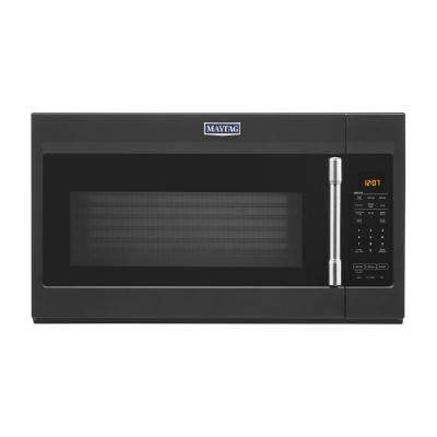 1.9 cu. ft. Over the Range Microwave with Dual Crisp Function in Cast Iron Black