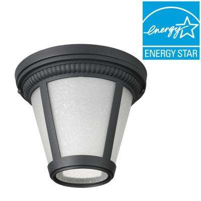 Westport Collection 1-Light Black LED Outdoor Flushmount