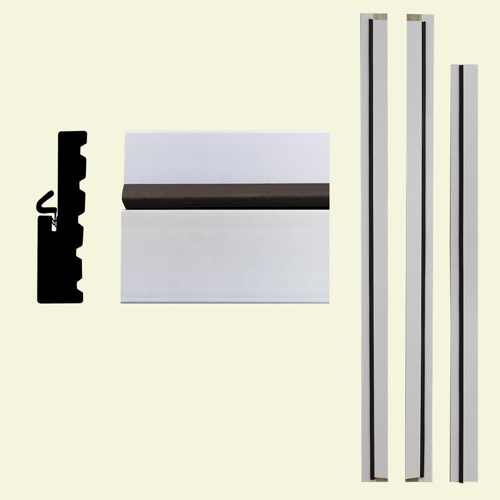 White - Composite - Door & Window Moulding - Moulding - The Home Depot