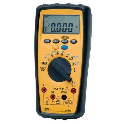 Commercial Grade Mulitimeter with Low Impedance,TRMS, Cap., Freq., NCV, Temp