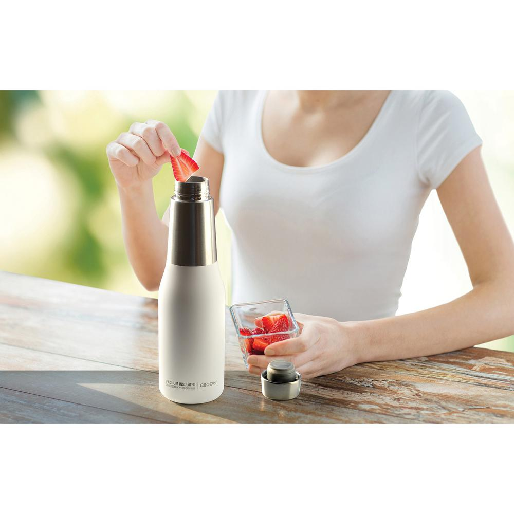83e30292e0 ASOBU Oasis 20 oz. White Water Bottle SBV23W - The Home Depot
