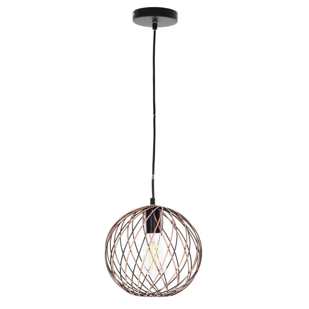 copper mini pendant light. Alsy 1-Light Antique Copper Finish Caged Mini Pendant Light