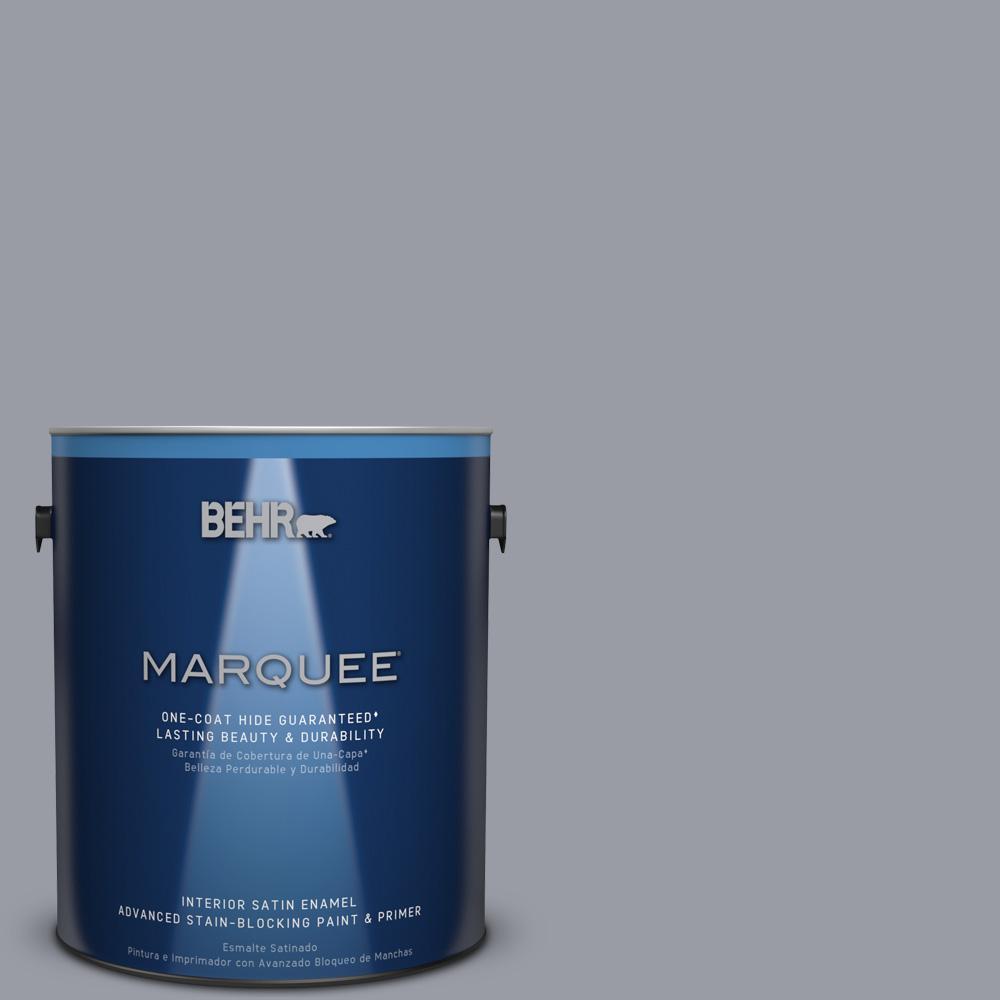 1 gal. #PPU26-20 Smokey Lilac Satin Enamel Interior Paint