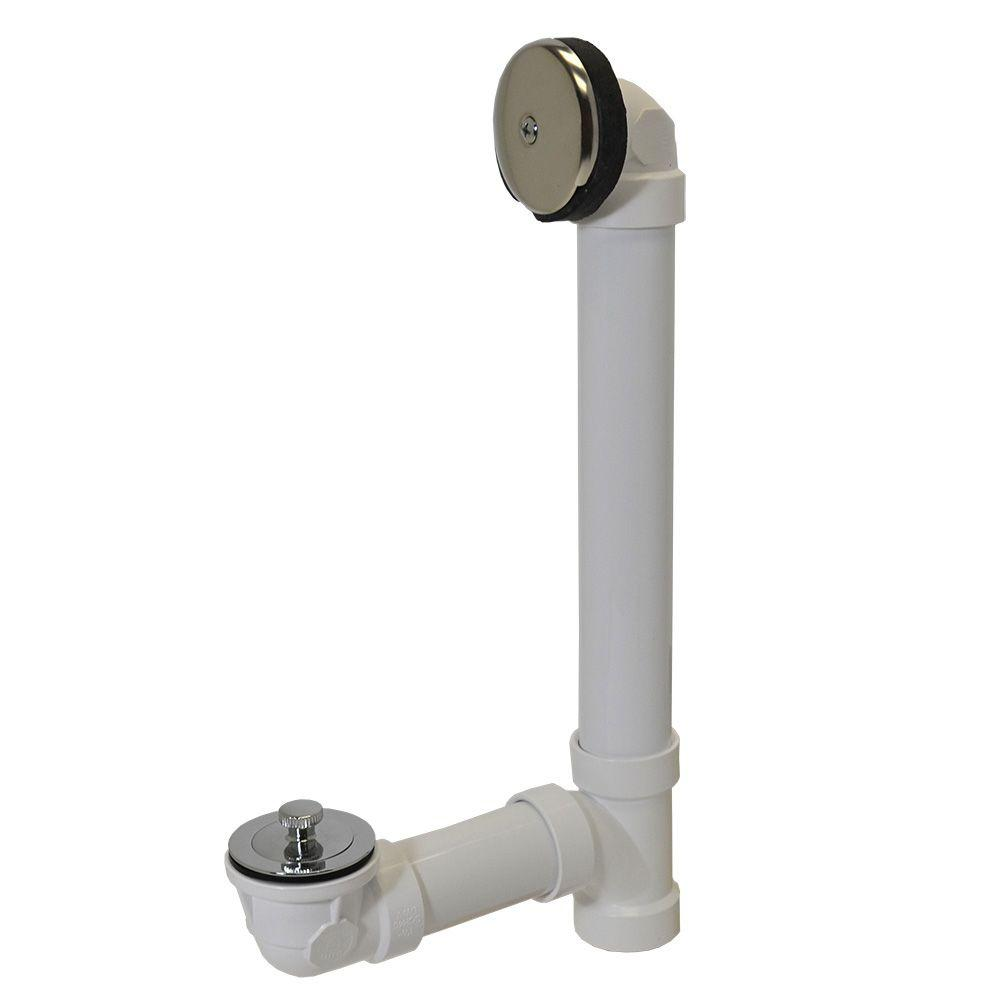 Twist and Close 1-1/2 in. Sch. 40 White PVC Pipe Bath
