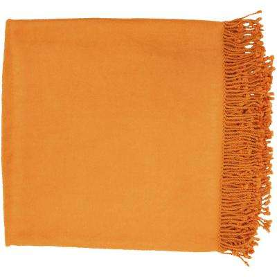 Bright Orange Blankets Throws Home Accents The Home Depot Enchanting Peach Colored Throw Blanket