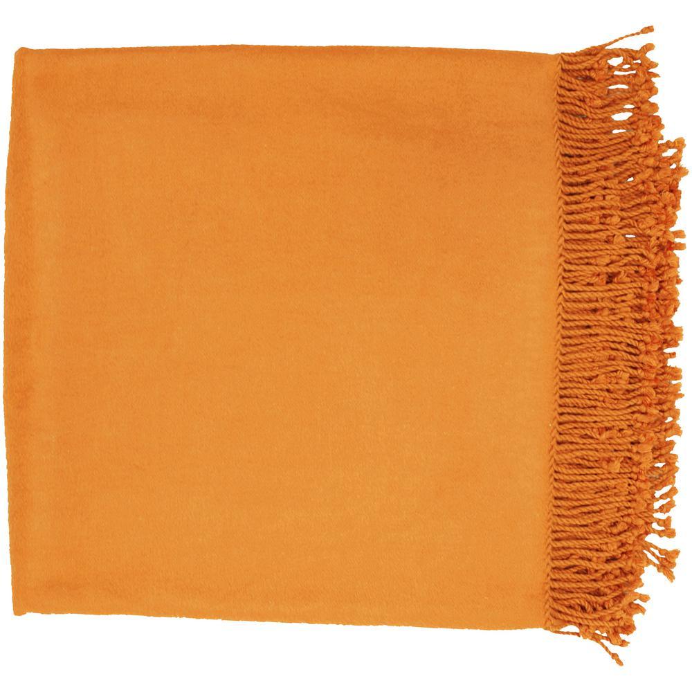 Liz Bright Orange Throw