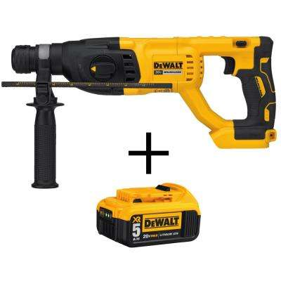 1 in. 20-Volt MAX XR Lithium-Ion Cordless SDS-plus Brushless D-Handle Rotary Hammer with Free Battery Pack 5.0 Ah