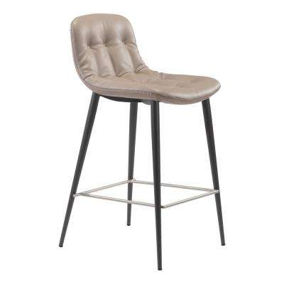 Tangiers 36.2 in. Taupe Counter Chair (Set of 2)