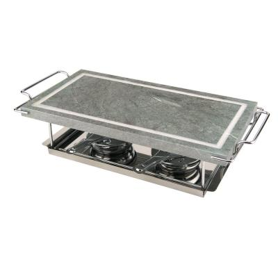 Tabletop Stone Grill Set in Dual Burners
