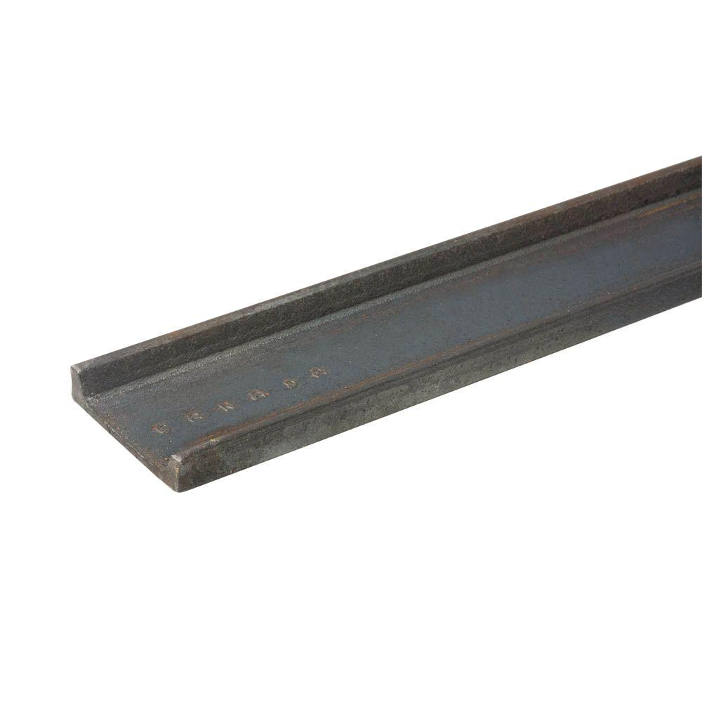Everbilt 2 in  x 36 in  Plain Steel C-Channel Bar with 1/8 in  Thick