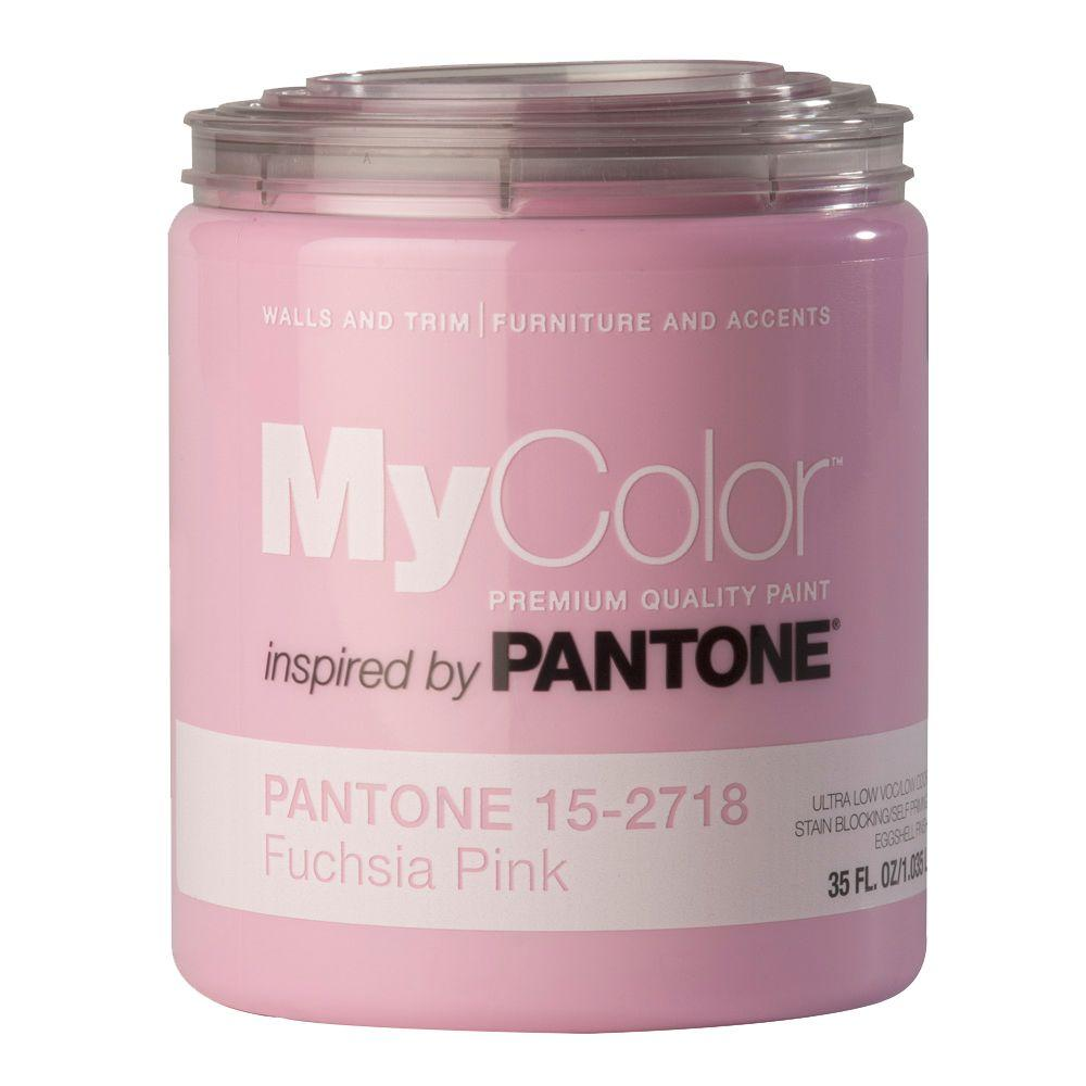 MyColor inspired by PANTONE 15-2718 Eggshell 35-oz. Fuchsia Pink Self Priming Paint-DISCONTINUED