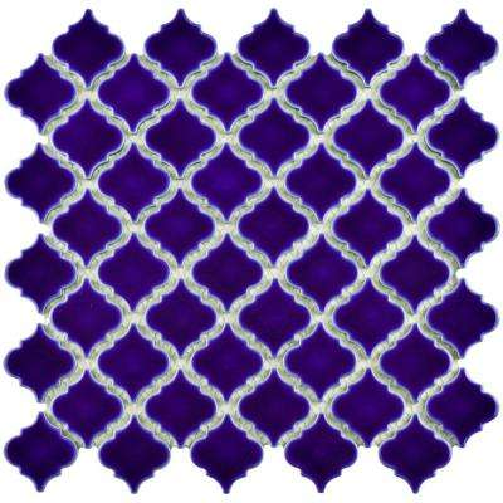 Hudson Tangier Cobalt Blue 12-3/8 in. x 12-1/2 in. x 5 mm Porcelain Mosaic Tile