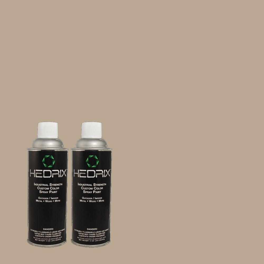 Hedrix 11 oz. Match of MQ2-56 Abbey Stone Flat Custom Spray Paint (2-Pack)