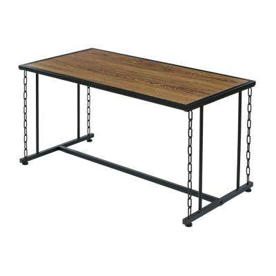 Folsom Ridge Coffee Table, with wood and black chain link metal