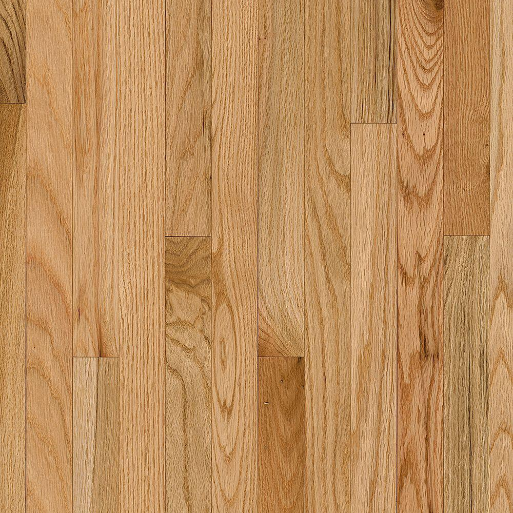 Bruce plano oak country natural 3 4 in thick x 2 1 4 in for Solid hardwood flooring