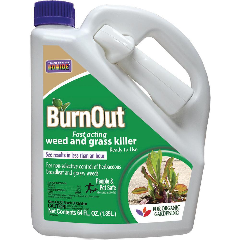 1/2 Gal. BurnOut  Weed and Grass Killer RTU