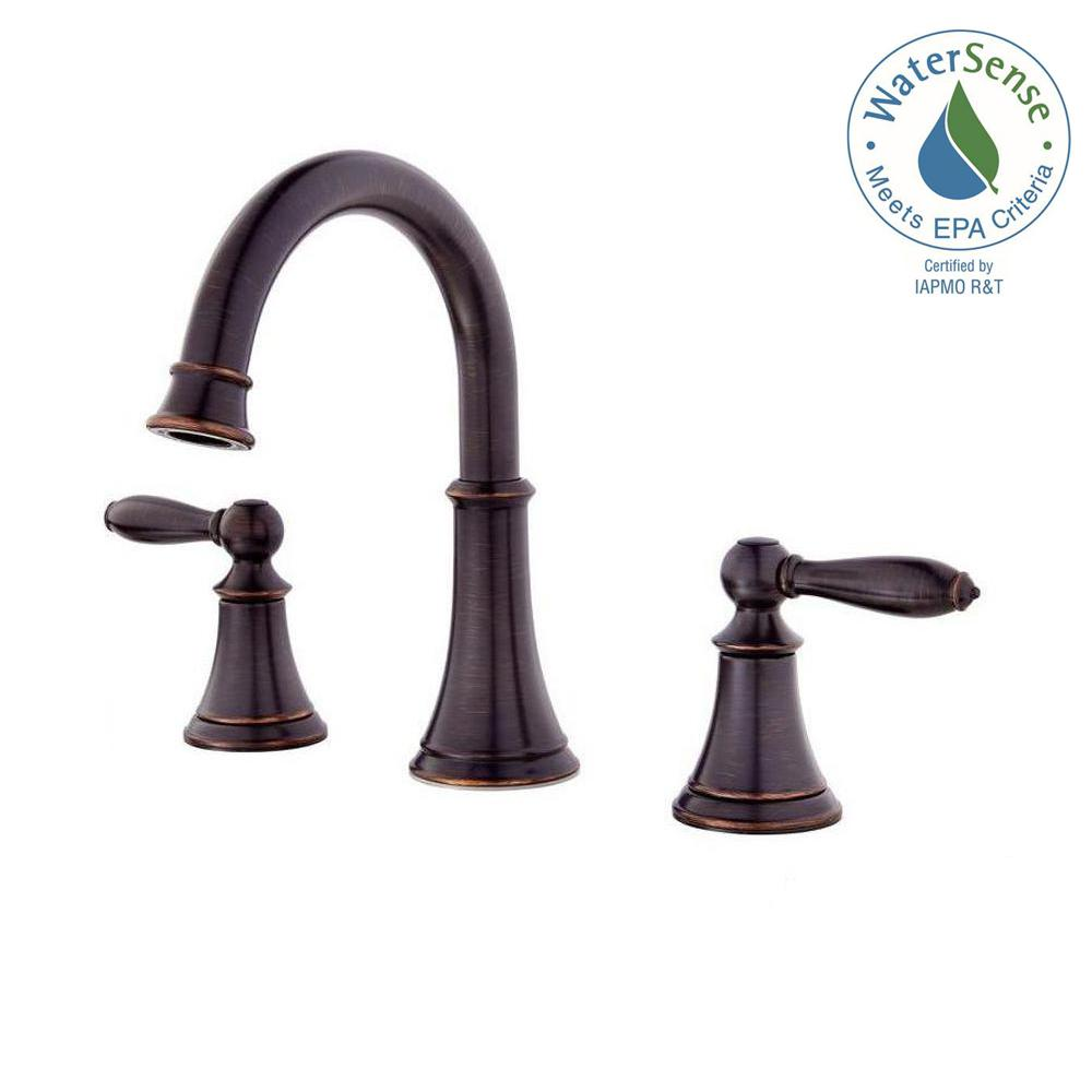 Pfister courant 8 in widespread 2 handle bathroom faucet for 8 bathroom faucet bronze