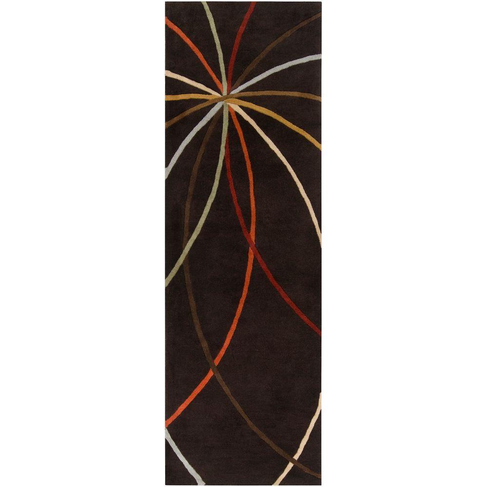 Hughson Chocolate 2 ft. 6 in. x 8 ft. Rug Runner