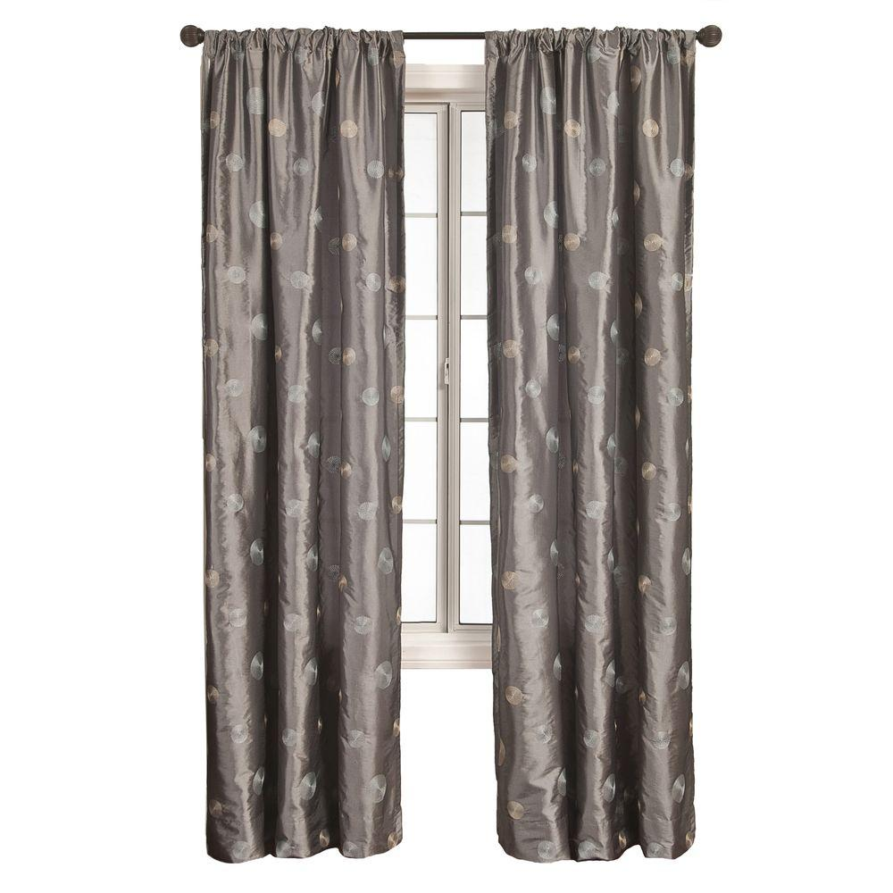 Home Decorators Collection Sheer Silver Cirque Rod Pocket Curtain - 54 in. W x 84 in. L