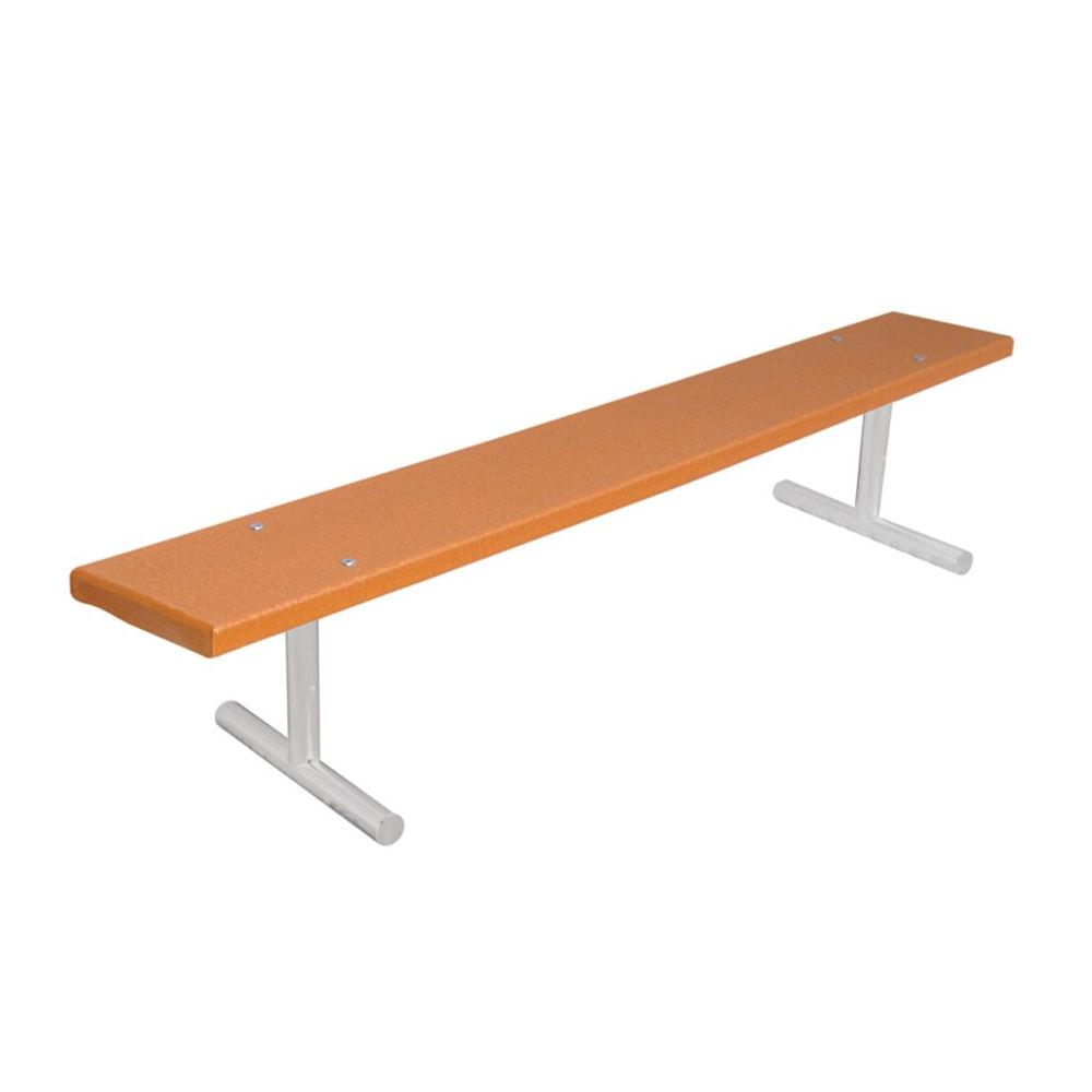 Ultra Play 6 ft. Cedar Commercial Park Recycled Plastic Portable Bench without Back Surface Mount