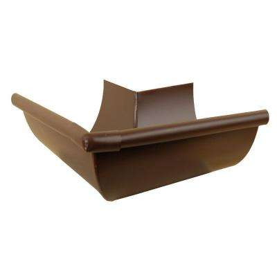 6 in. Royal Brown Aluminum Half Round Outside Mitre