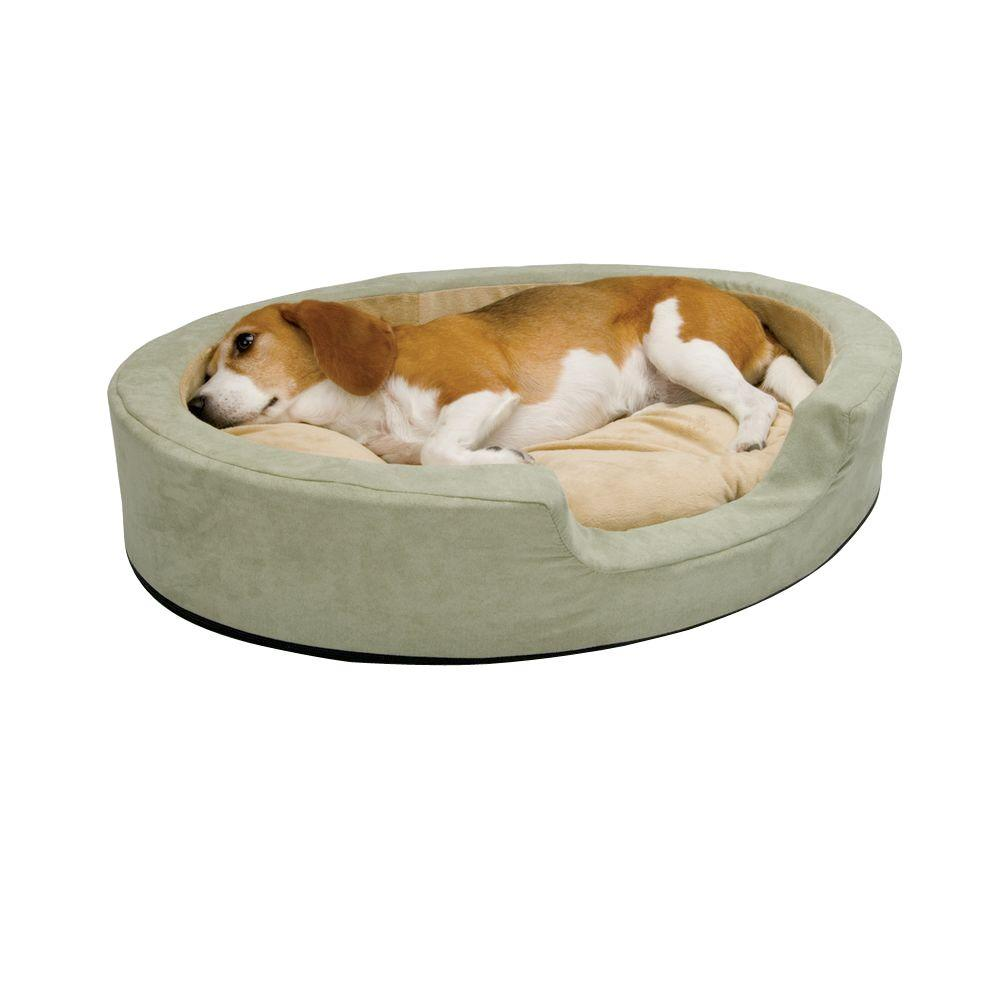 Thermo-Snuggly Sleeper Medium Sage Heated Dog Bed