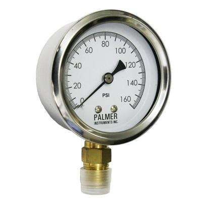 2.5 in. Dial 160 psi Stainless Steel Case Utility Gauge